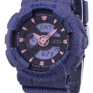 Casio G-Shock Baby-G World Time Analog Digital BA-110DE-2A1 BA110DE2A1 Women's Watch