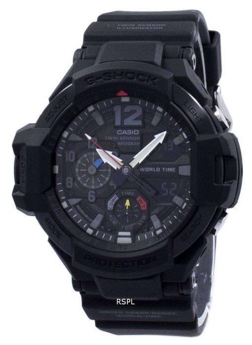 Casio G-Shock Gravitymaster Twin Sensor World Time GA-1100-1A1 GA1100-1A1 Men's Watch