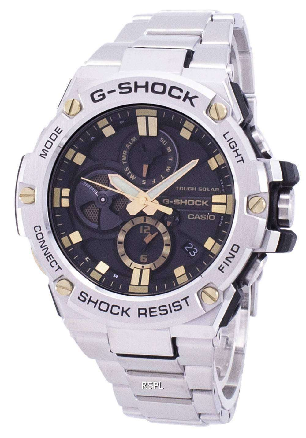 0dbffb0df3c Casio G-Shock G-Steel Tough Solar Bluetooth GST-B100D-1A9 GSTB100D-1A9  Men s Watch