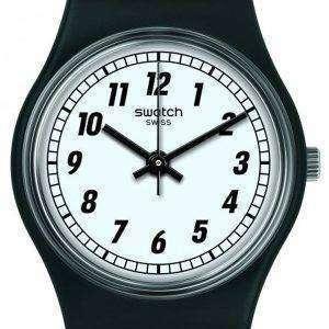 Swatch Originals Something Black Analog Quartz LB184 Women's Watch