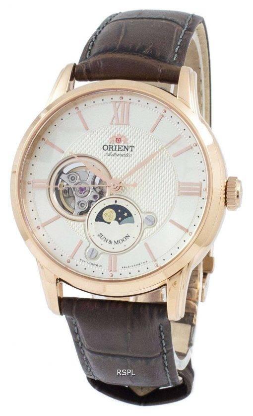 Orient Classic Sun & Moon Open Heart Automatic Japan Made RA-AS0003S10B Men's Watch