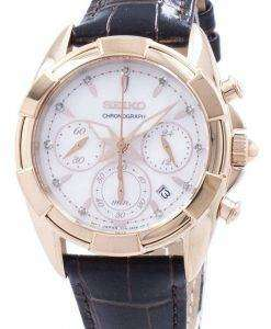 Seiko Chronograph Quartz Diamond Accent SRW784 SRW784P1 SRW784P Women's Watch
