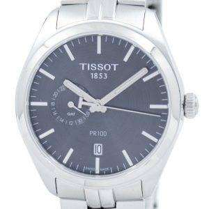 Tissot T-Classic PR 100 Dual Time Quartz T101.452.11.061.00 T1014521106100 Men's Watch