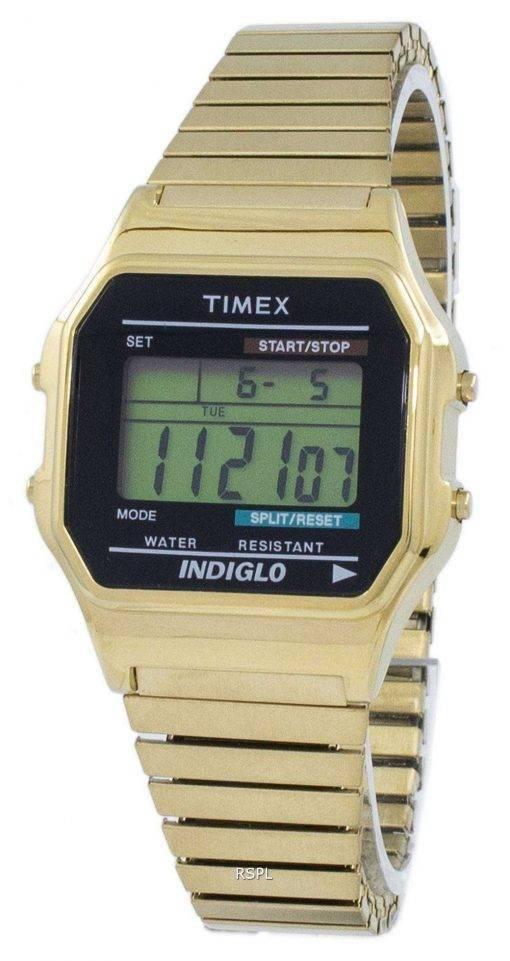 Timex Classic Indiglo Chronograph Alarm Digital T78677 Men's Watch