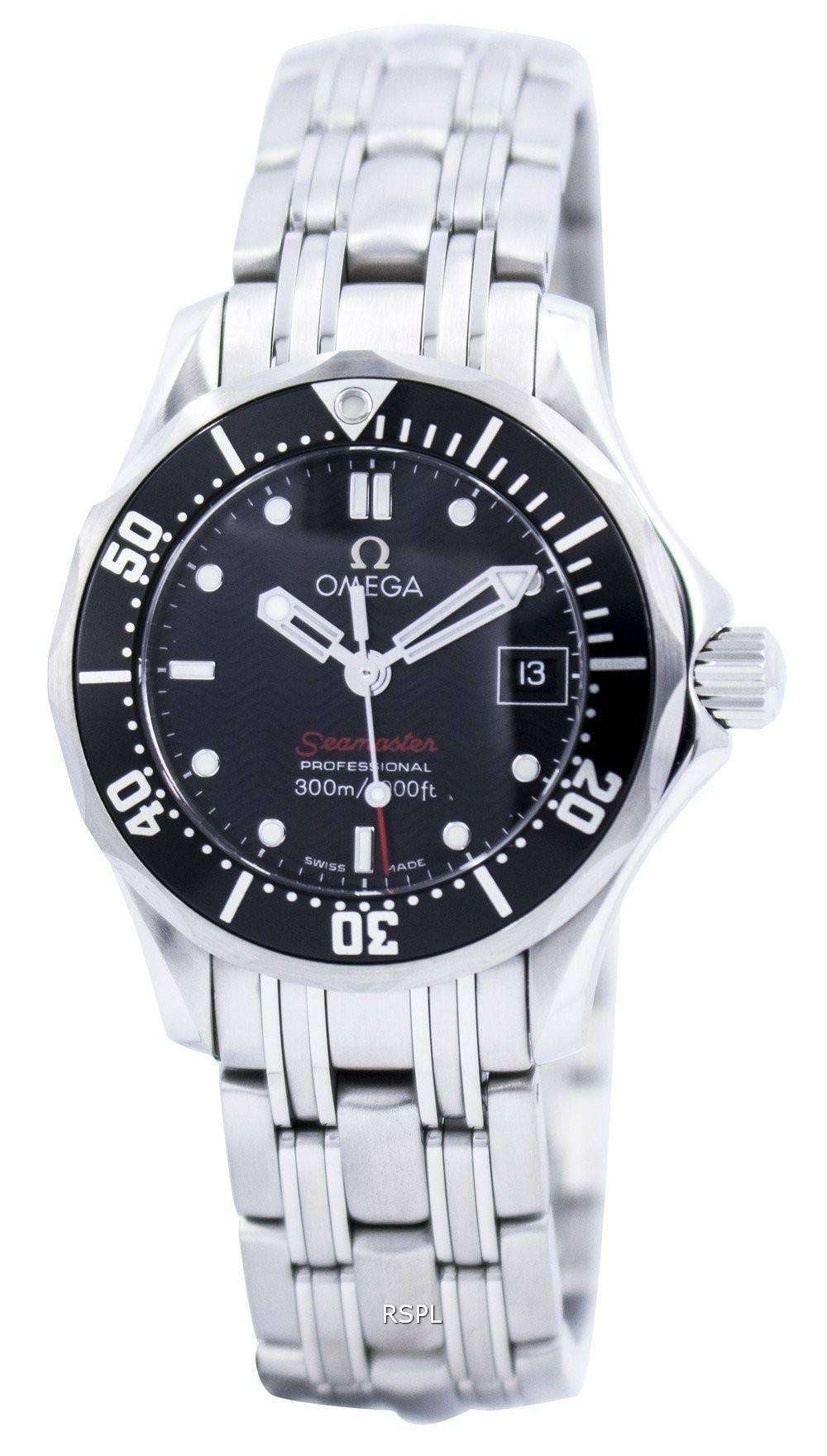 Omega seamaster professional diver 300m quartz womens watch zetawatches for Omega seamaster professional