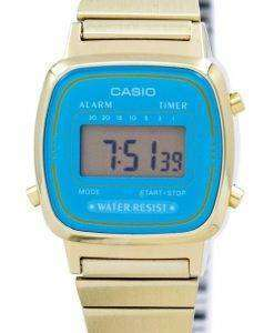 Casio Digital Stainless Steel Alarm Timer LA670WGA-2DF LA670WGA-2 Womens Watch