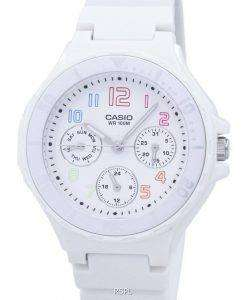 Casio Analogue White Resin Strap LRW-250H-7BVDF LRW-250H-7BV Ladies Watch