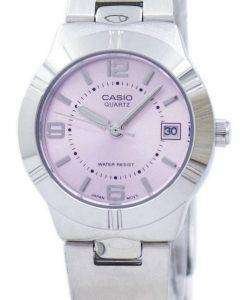 Casio Enticer Analog Quartz Pink Dial LTP-1241D-4ADF LTP-1241D-4A Womens Watch