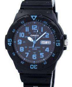 Casio Quartz 100M Analog Black Dial MRW-200H-2BVDF MRW-200H-2BV Mens Watch