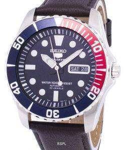 Seiko 5 Sports Automatic Ratio Dark Brown Leather SNZF15K1-LS11 Men's Watch