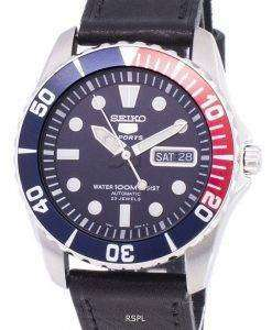Seiko 5 Sports Automatic Ratio Black Leather SNZF15K1-LS8 Men's Watch