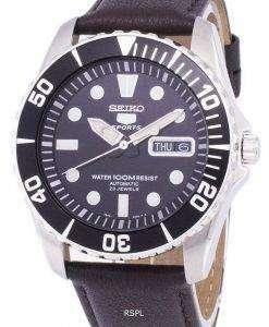 Seiko 5 Sports Automatic Ratio Dark Brown Leather SNZF17K1-LS11 Men's Watch