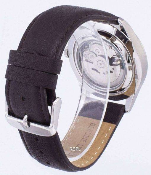 Seiko 5 Sports Automatic Ratio Dark Brown Leather SNZG07K1-LS11 Men's Watch