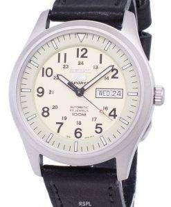 Seiko 5 Sports Automatic Ratio Black Leather SNZG07K1-LS8 Men's Watch