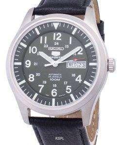 Seiko 5 Sports Automatic Ratio Black Leather SNZG09K1-LS10 Men's Watch