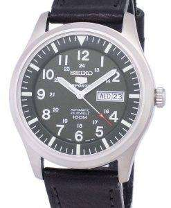 Seiko 5 Sports Automatic Ratio Black Leather SNZG09K1-LS8 Men's Watch