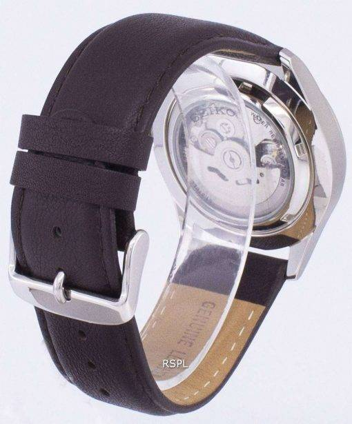 Seiko 5 Sports Automatic Ratio Dark Brown Leather SNZG11K1-LS11 Men's Watch