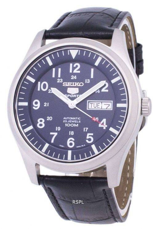 Seiko 5 Sports Automatic Ratio Black Leather SNZG11K1-LS6 Men's Watch