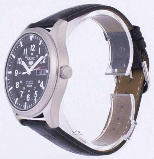 Seiko 5 Sports Automatic Ratio Black Leather SNZG15K1-LS6 Men's Watch