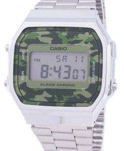 Casio Retro Digital Camouflage Alarm Chrono A168WEC-3EF Unisex Watch