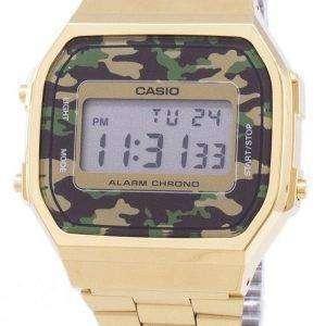 Casio Retro Digital Camouflage Alarm Chrono A168WEGC-3EF Unisex Watch