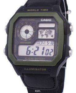 Casio Youth Series Digital World Time AE-1200WHB-1BVDF AE-1200WHB-1BV Mens Watch