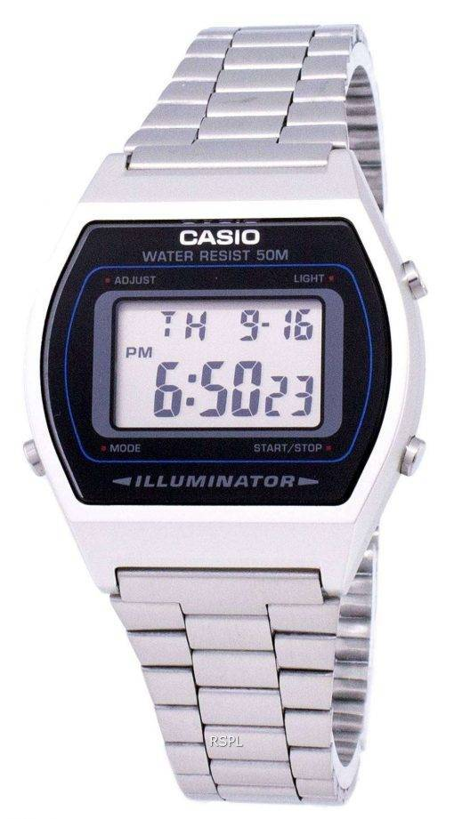 Casio Digital Quartz Stainless Steel Illuminator B640WD-1AVDF B640WD-1AV Mens Watch