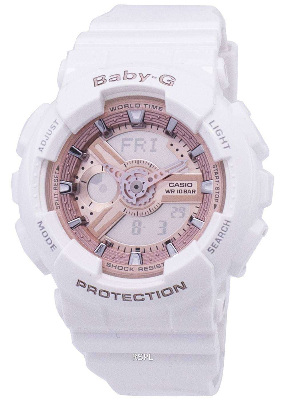44009dca8fd63 Casio Baby-G World Time Analog-Digital BA-110-7A1 Womens Watch ...