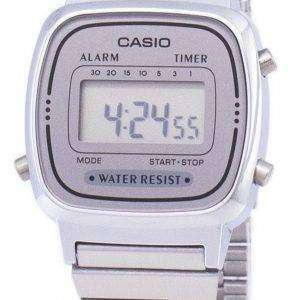 Casio Digital Stainless Steel Alarm Timer LA670WA-7DF LA670WA-7 Womens Watch
