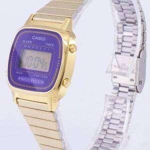 Casio Digital Stainless Steel Alarm Timer LA670WGA-6DF LA670WGA-6 Womens Watch