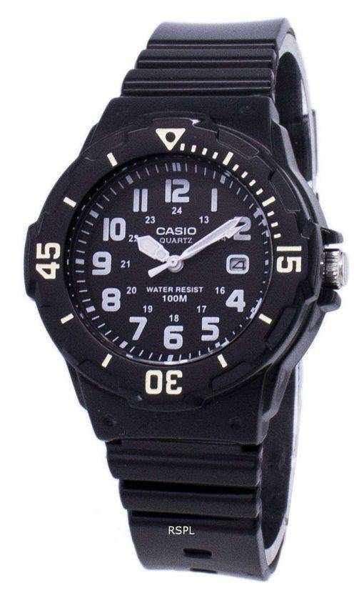Casio Enticer Analog Black Dial LRW-200H-1BVDF LRW-200H-1BV Womens Watch