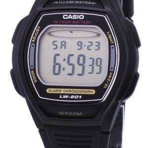 Casio Digital Alarm Chrono Illuminator LW-201-1AVDF Womens Watch