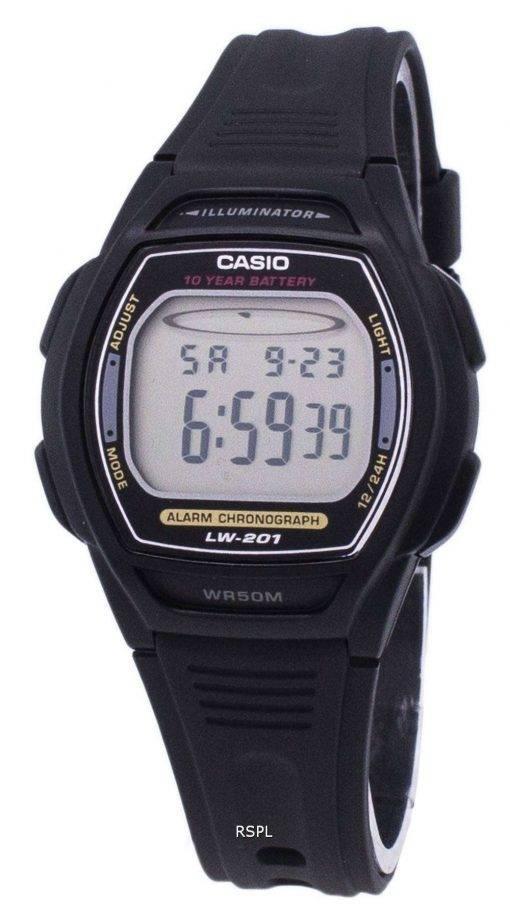 Casio Digital Alarm Chrono Illuminator LW-201-1AVDF Womens Watch