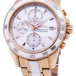 Seiko Sportura Chronograph Quartz SNDW98 SNDW98P1 SNDW98P Women's Watch