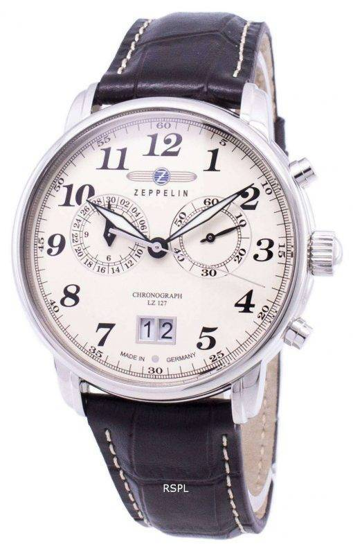 Zeppelin Series LZ127 Graf Germany Made 7684-5 76845 Men's Watch