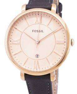 Fossil Jacqueline Quartz Gray Leather ES3707 Womens Watch