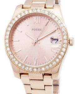 Fossil Scarlette Quartz Diamond Accents ES4318 Women's Watch