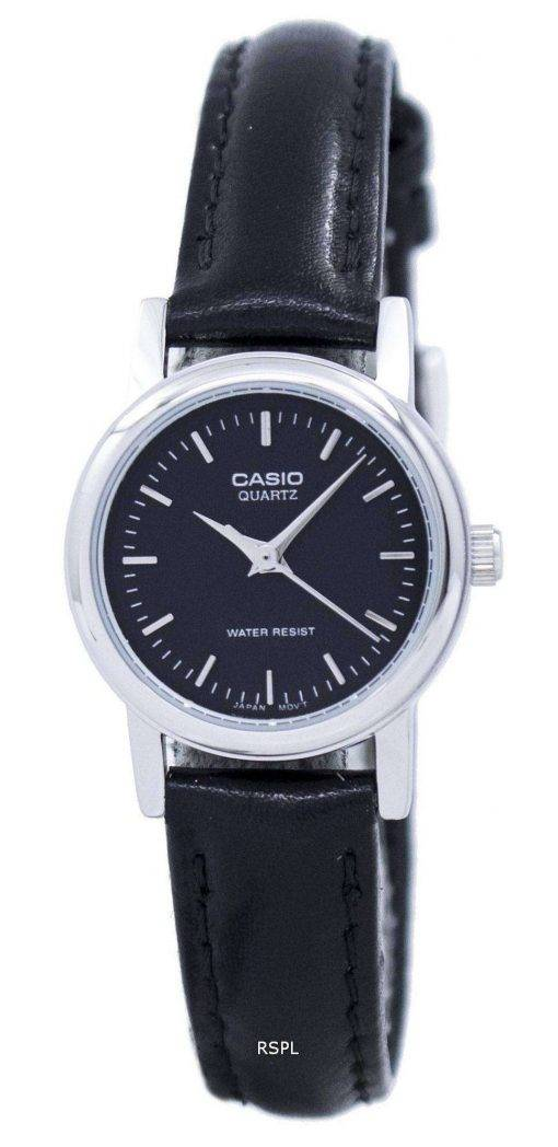 Casio Quartz Analog Black Dial LTP-1095E-1ADF LTP-1095E-1A Womens Watch