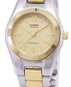 Casio Enticer Analog Quartz Gold Dial LTP-1253SG-9ADF LTP-1253SG-9A Womens Watch