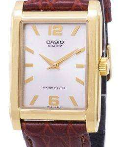 Casio Enticer Quartz Analog Silver Dial MTP-1235GL-7ADF MTP-1235GL-7A Mens Leather Watch