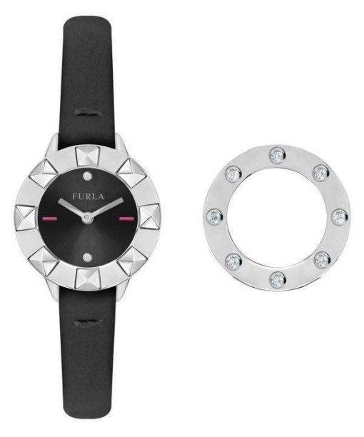 Furla Club Quartz Diamond Accents R4251116505 Women's Watch