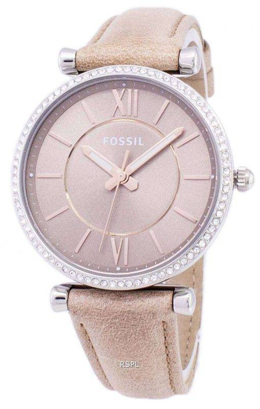 Fossil Carlie Three-Hand Sand Quartz Diamond Accents ES4343 Women's Watch