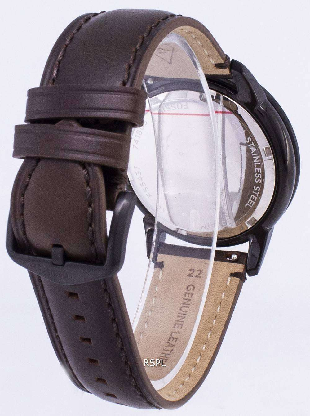 Watch Quartz Townsman Chronograph Fossil Fs5437 Men's AR534jL