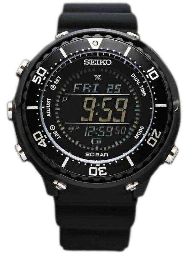 Seiko Prospex SBEP001 Fieldmaster Lowercase Dual Time Solar 200M Men's Watch