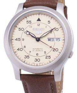 Seiko 5 Military SNK803K2-SS5 Automatic Brown Leather Strap Men's Watch