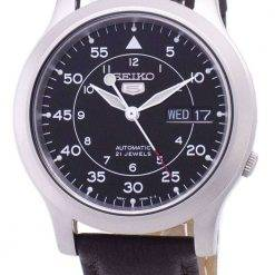 Seiko 5 Military SNK809K2-SS4 Automatic Brown Leather Strap Men's Watch