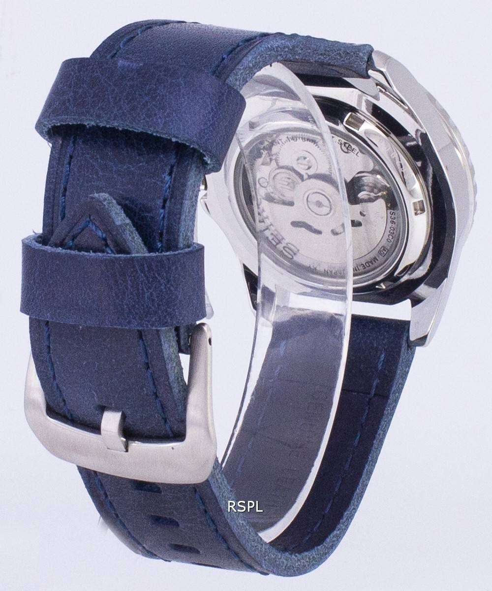 buy online 4be70 44a35 Seiko 5 Sports SNZF17J1-LS13 Automatic Japan Made Dark Blue Strap Men's  Watch