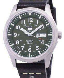 Seiko 5 Sports SNZG09J1-LS14 Japan Made Black Leather Strap Men's Watch