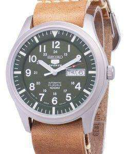 Seiko 5 Sports SNZG09J1-LS18 Japan Made Brown Leather Strap Men's Watch