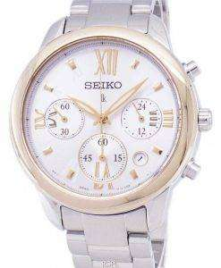 Seiko Lukia Chronograph Quartz SRWZ92 SRWZ92P1 SRWZ92P Women's Watch